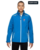 North End Excursion Men's Soft Shell Jacket With Laser Stitch Accents - Pepsi