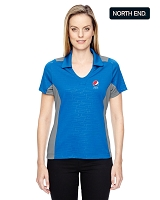 North End Ladies' Reflex UTK cool?logik™ Performance Embossed Print Polo - Pepsi