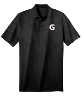 Deluxe Dri Fit Polo - Unisex (Black) - Gatorade