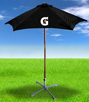 6ft 6in Wooden Patio Umbrella - Gatorade