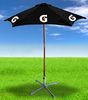 7ft  Wooden Patio Umbrella - Gatorade.....Please Login To see our very Special Pricing