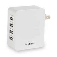 Brookstone® 4-Port USB Wall Charger II