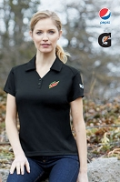 Ladies' Coffee Charcoal Performance Polos With Pocket