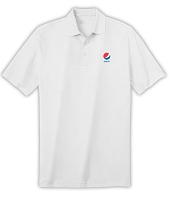 Deluxe Dri Fit Polo (White) - Pepsi