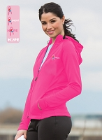 Ladies' PTech Fleece Jacket - Awareness