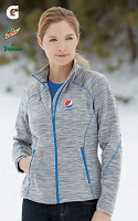 Ladies' Melange Bonded Fleece Jackets