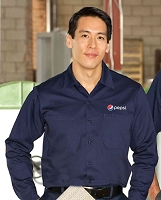 100% Cotton Long Sleeve Work Shirt - Pepsi