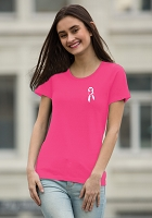 Running For The Cure T-Shirt - Eurospun Ladies Tee - Awareness
