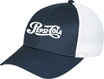 Polycotton / Polyester Honeycomb Mesh Cap - Pepsi-Cola
