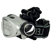 8 LED Headlamp - Pepsi Globe