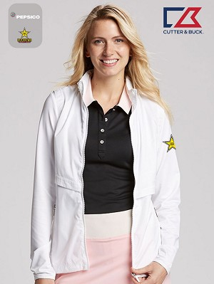 Cutter & Buck Ladies' L/S Ava Hybrid Full Zip Jacket