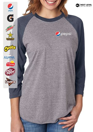 Next Level Unisex Triblend 3/4-Sleeve Raglan T-Shirt