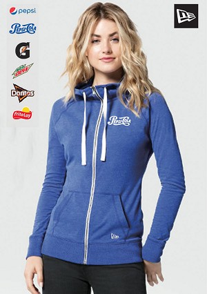 New Era® Ladies Sueded Cotton Blend Full-Zip Hoodie.....Please Login To see our Special Pricing