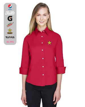 Ladies' Perfect Fit™ 3/4-Sleeve Stretch Poplin Blouse
