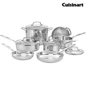 CUISINART 11-Piece Stainless Steel Chef's Classic Cookware Set