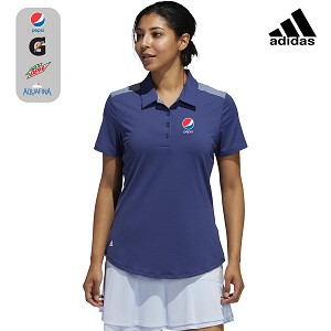 Adidas Women's Ultimate365 Heathered Short Sleeve Polo