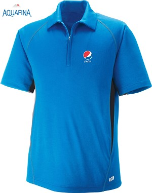 Men's Cool Logic Performance Zippered Polo - Olympic Blue