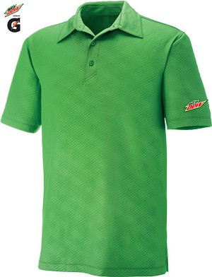 Men's Performance Stretch Embossed Print Polo - Valley Green