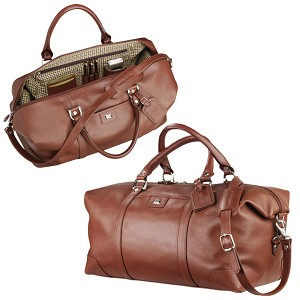 Cutter & Buck® Leather Weekender Duffel