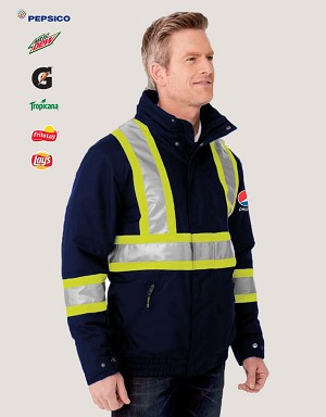Men's Hi Vis Insulated Bomber - Pepsi