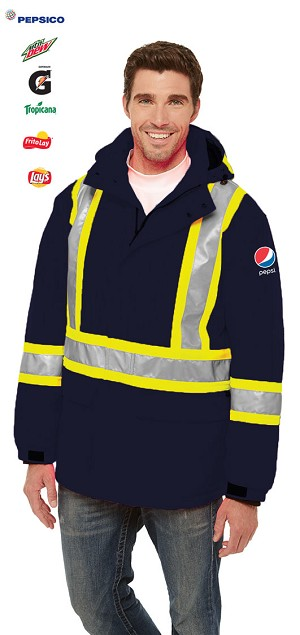 Men's Hi Vis Insulated Parka - Pepsi