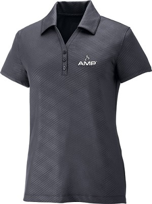 Ladies' Performance Stretch Embossed Print Polo - Amp Energy