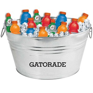 Oval Galvanized Metal Tub - Gatorade