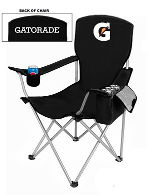 NEW DESIGN Cool Camping Chair With Side Pocket Cooler - Gatorade