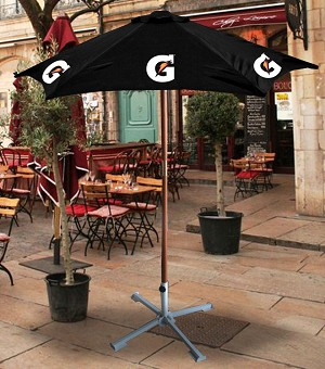 7ft  Wooden Patio Umbrella - Gatorade