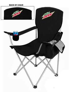 NEW DESIGN Cool Camping Chair With Side Pocket Cooler - MTN Dew