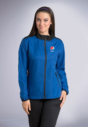 Women's lightweight Color Block Jacket - Pepsi