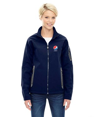 Ladies' Three-Layer Fleece Bonded Soft Shell Technical Jacket - Pepsi
