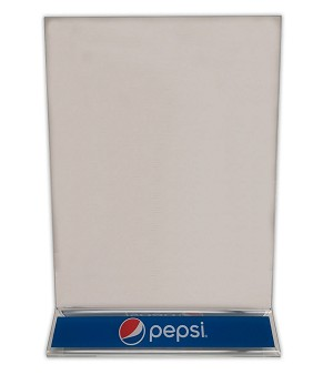 "8.5""w x 11""h Clear Styrene Table Tent - Pepsi"