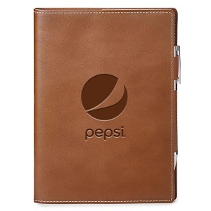 GENUINE LEATHER REFILLABLE JOURNAL - Pepsi