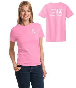 Running For The Cure T-Shirt - Awareness