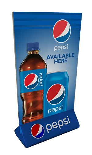 Acrylic Counter Display 4x6 - Pepsi
