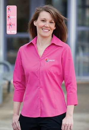Ladies  3/4 Sleeve Easy Care Shirt - Awareness