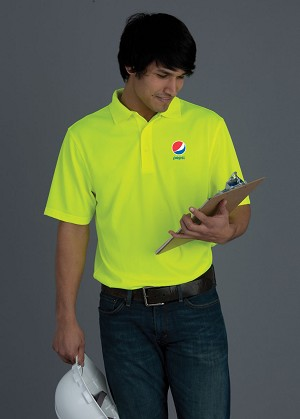 100% Polyester Snag Proof Power Sport Shirt - Pepsi