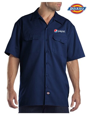 DICKIES Short Sleeve Work Shirt - Pepsi