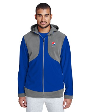 Men's Rally Colorblock Microfleece Jacket - Pepsi