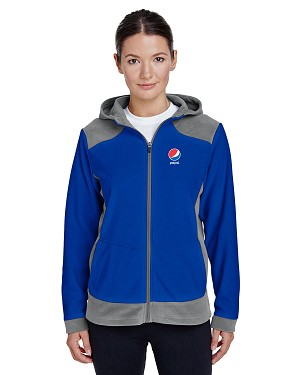 Ladies' Rally Colorblock Microfleece Jacket - Pepsi