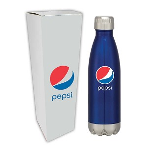 16 Oz. Swig Stainless Steel Bottle With Custom Box Gift Set - Pepsi