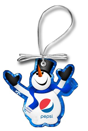 Snowman Holiday Ornament - Pepsi