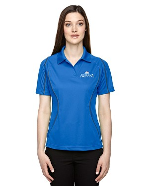 Ladies' Snag Protection Colour-Block Polo With Piping - Aquafina