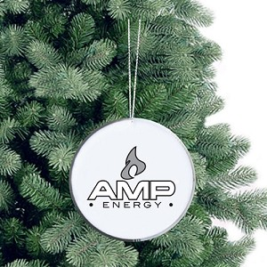 Round Glass Ornament - Amp Energy