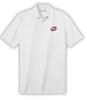 Deluxe Dri Fit Polo (White) - Dr. Pepper