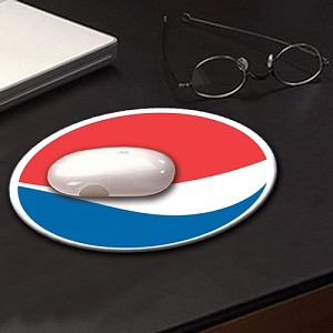 Full Color Hard Surface Mouse Pad - Pepsi