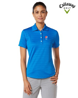Ladies' Callaway  Textured Performance Polo - Pepsi