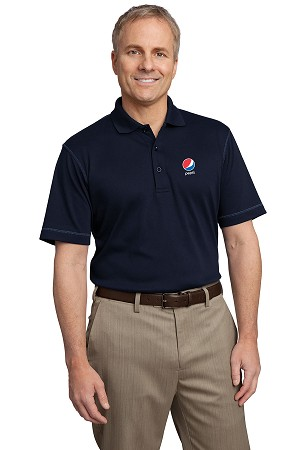 Contrast Stitch Silk Touch Interlock Polo - Pepsi