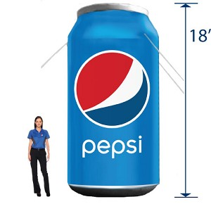Inflatable Pepsi Can - 18'